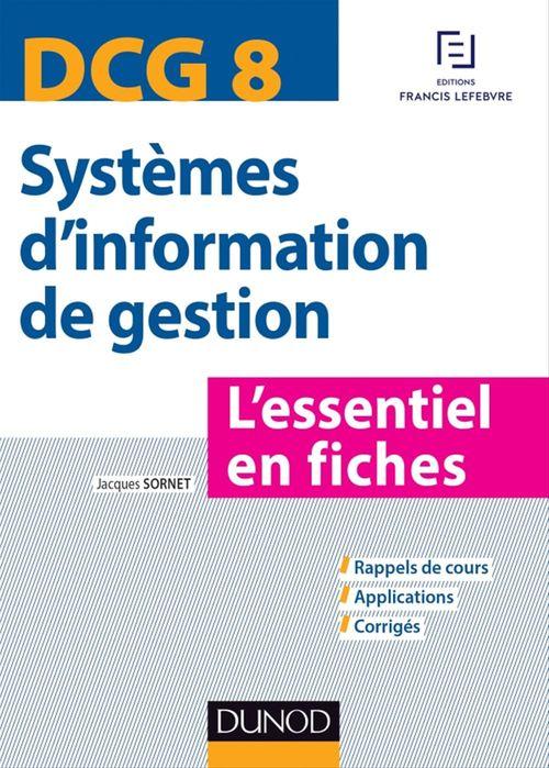 Jacques Sornet DCG 8 - Systèmes d'information de gestion