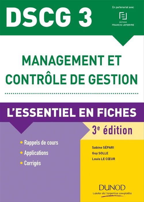 Sabine Sépari DSCG 3 Management et contrôle de gestion - 3e éd.