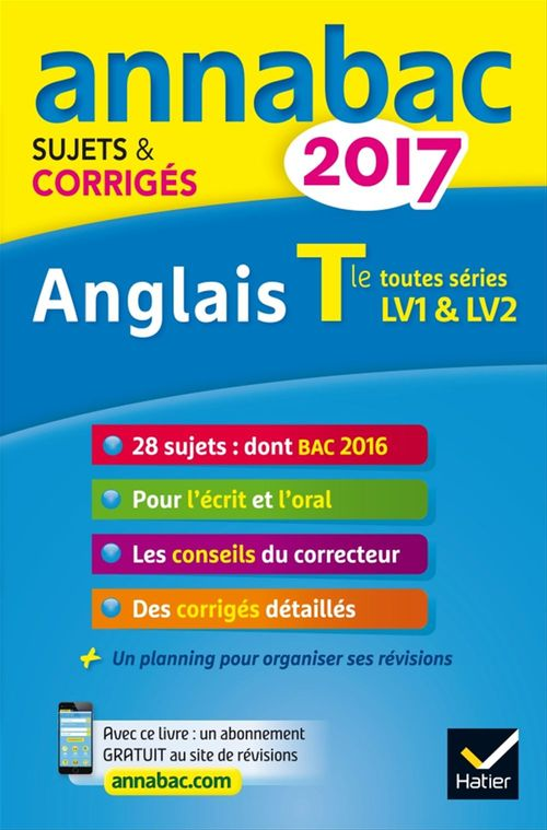 Didier Hourquin Annales Annabac 2017 Anglais Tle LV1 et LV2