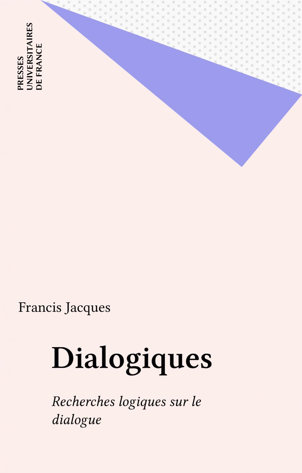 Francis Jacques Dialogiques
