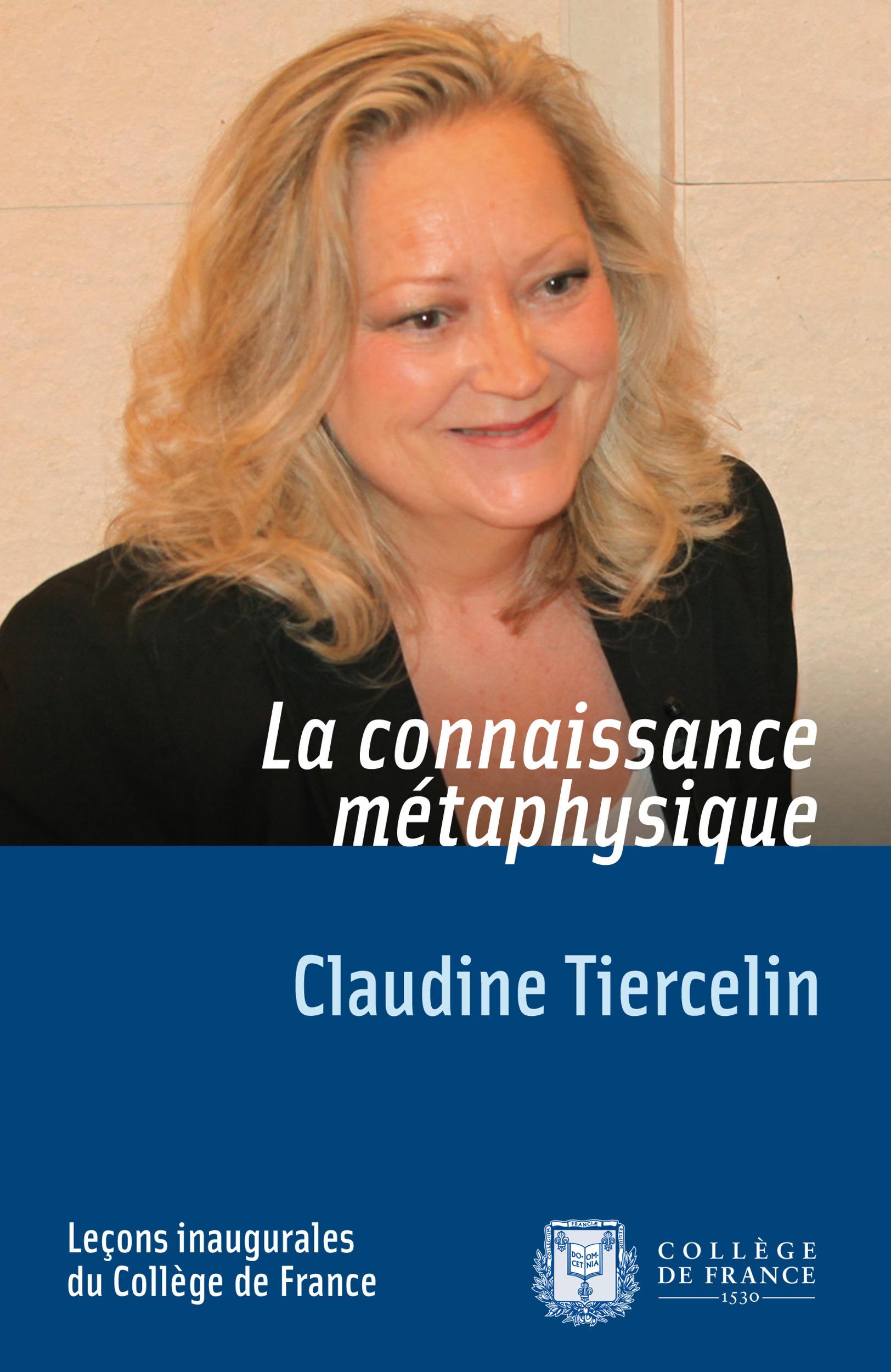 Claudine Tiercelin La connaissance métaphysique