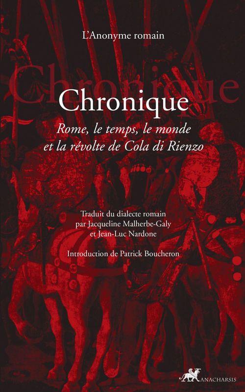 Anonyme Romain Chronique