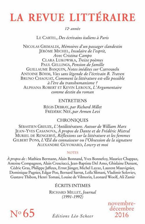 REVUE LITTÉRAIRE N° 65
