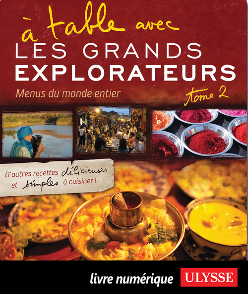 � table avec Les Grands Explorateurs - Menus du monde T.2