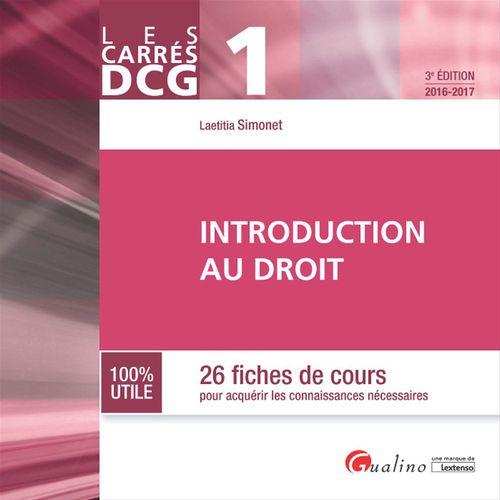 Les Carrés DCG 1 - Introduction au droit 2016-2017 - 3e édition
