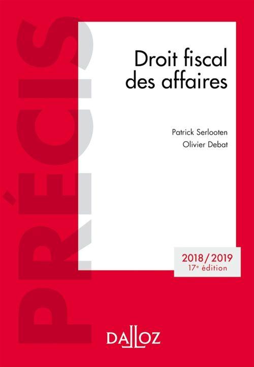 Patrick Serlooten Droit fiscal des affaires 2018-2019