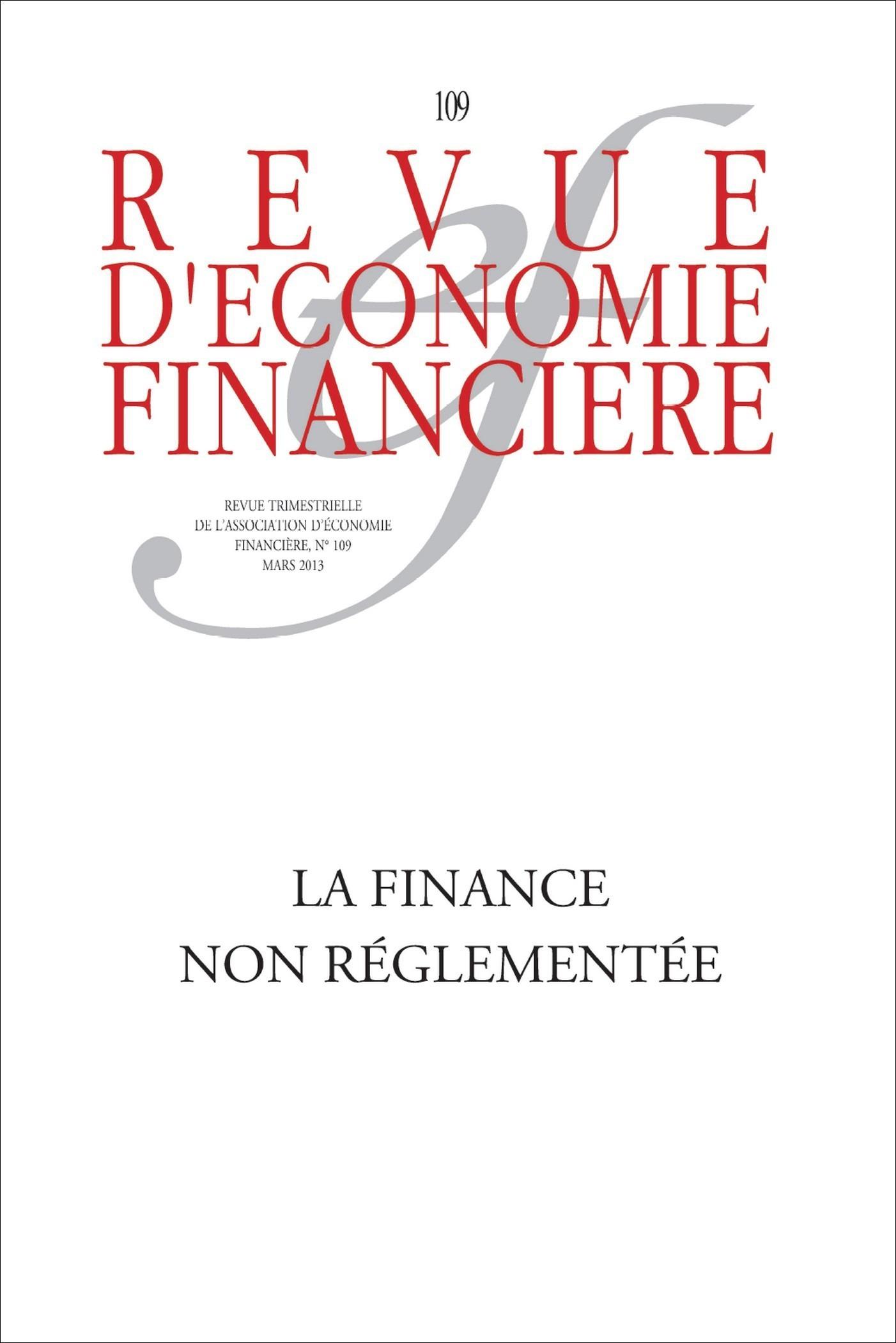 Ouvrage Collectif La finance non réglementée