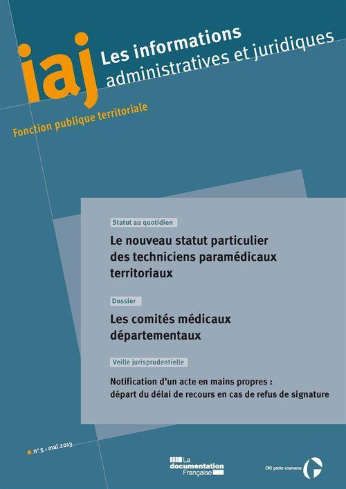 IAJ : Les comités médicaux départementaux - Mai 2013