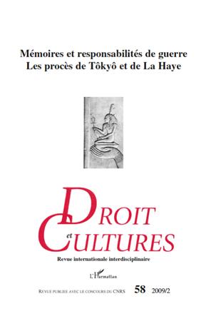 Collectif Mémoires et responsabilités de guerre ; les procès de Tôkyô et de La Haye