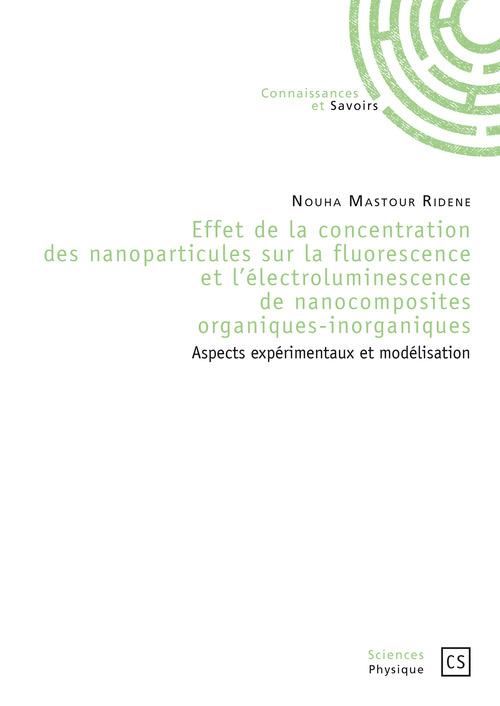 Nouha Mastour Ridene Effet de la concentration des nanoparticules sur la fluorescence et l'électroluminescence de nanocomposites organiques-inorganiques
