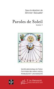Olivier Escuder Paroles de soleil - tome I