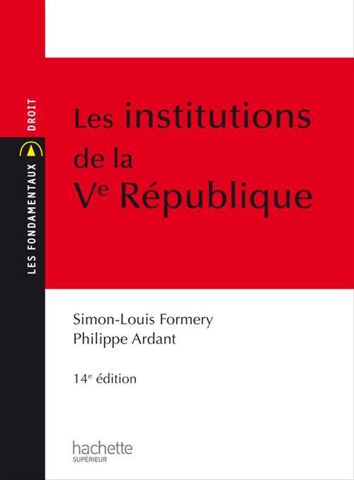 Simon-Louis Formery Les Institutions de la Ve République