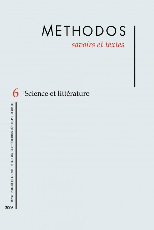 6 | 2006 - Science et littérature - Méthodos