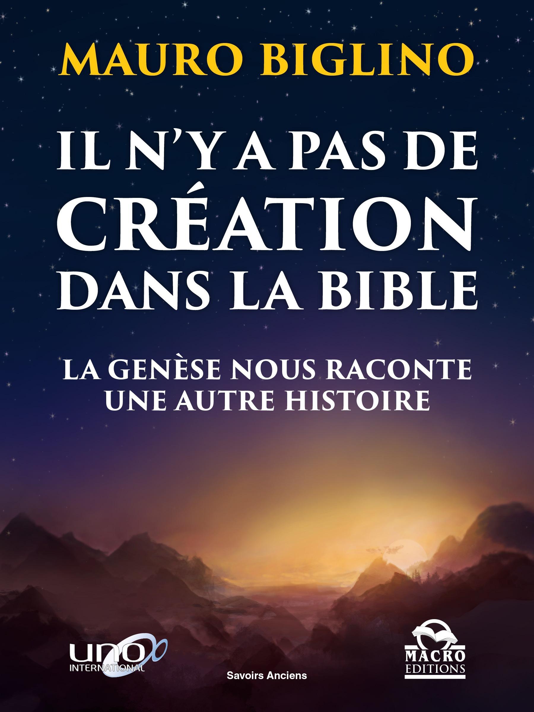 Mauro Biglino Il n'y a pas de création dans la Bible - erreur isbn