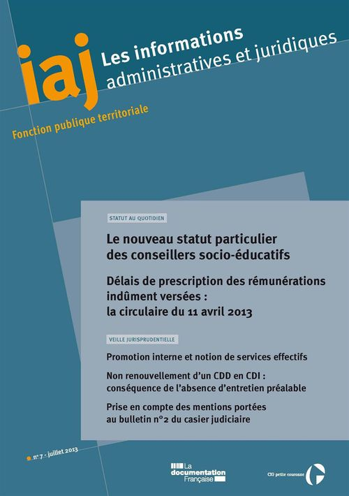 Informations Administratives Juridiques T.7