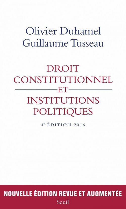 Olivier Duhamel Droit constitutionnel et institutions politiques