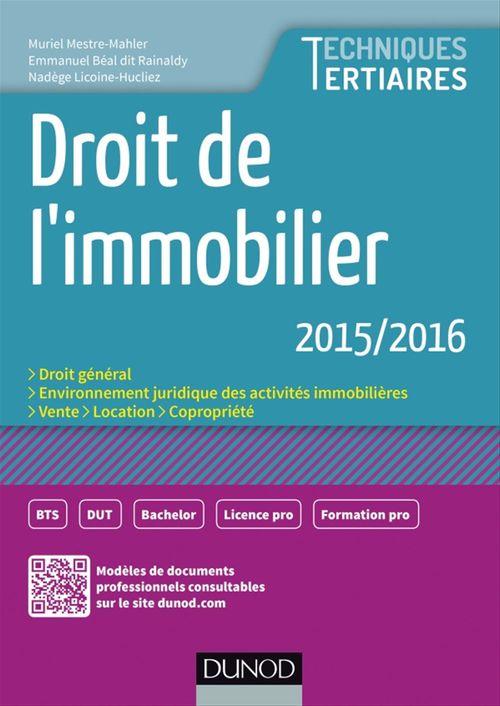 Muriel Mestre Mahler Droit de l'immobilier 2015-2016
