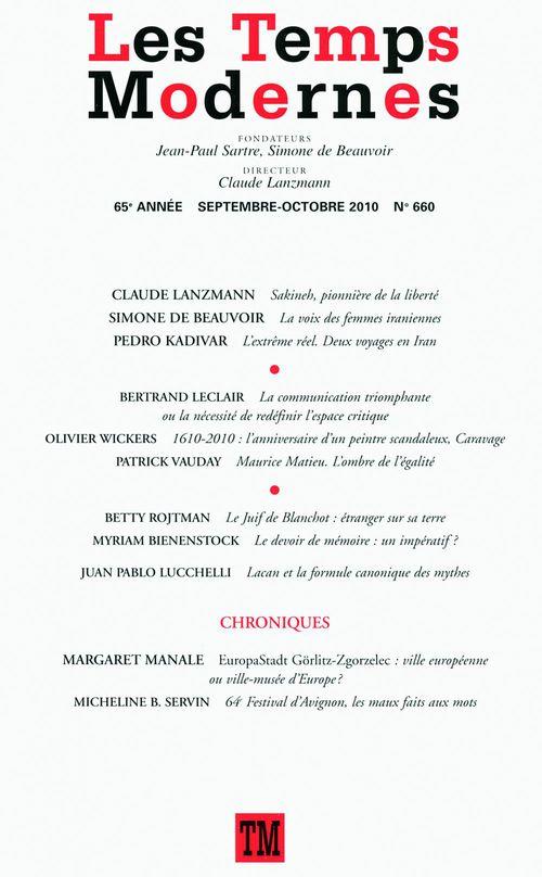 Les Temps Modernes n° 660 (Septembre - octobre 2010)