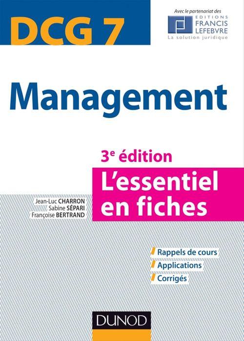 Sabine Sépari Management DCG 7 - 3e édition