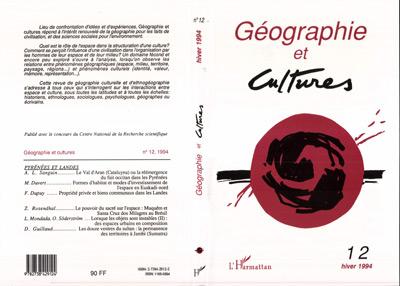 Revue Geographie Et Cultures Revue geographie et cultures t.12