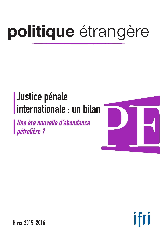 Olivier Kempf Justice pénale internationale : un bilan