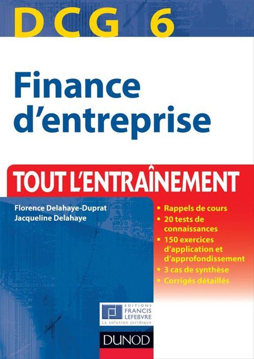 DCG 6 - Finance d'entreprise - 4e édition