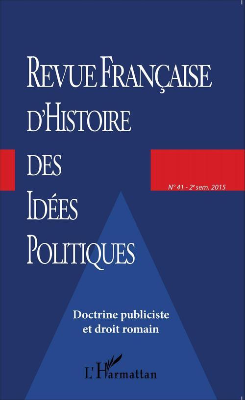 Collectif Revue française d'histoire des idées politiques - 41