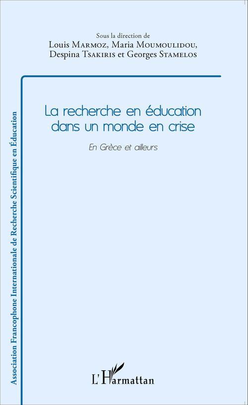 Louis Marmoz Recherche en éducation dans un monde en crise