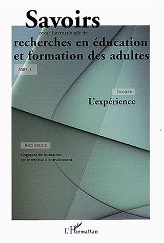 Revue Savoirs Savoirs t.1 ; l'experience