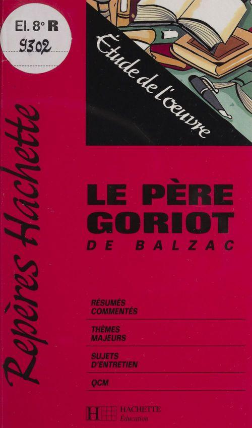 «Le Père Goriot» de Balzac