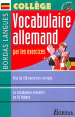Bordas Langues o Vocabulaire allemand par les exercices
