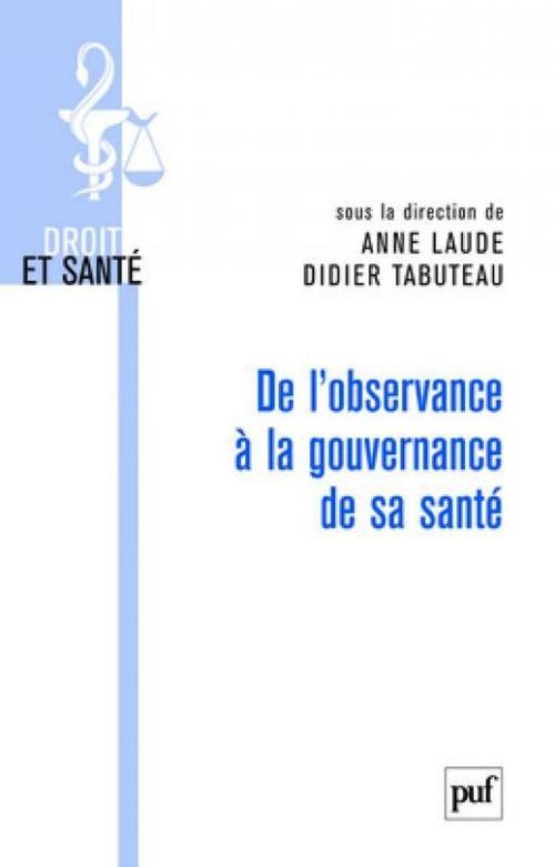 Didier Tabuteau De l'observance à la gouvernance de sa santé