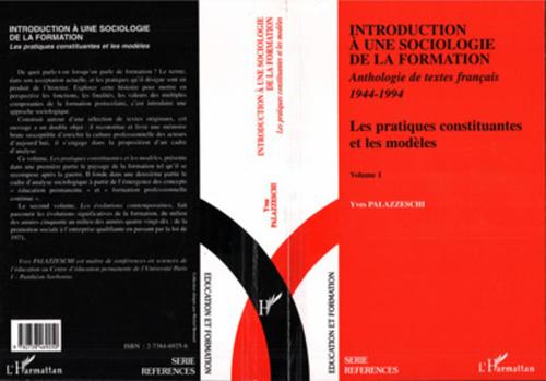 Yves Palazzeschi Introduction à une Sociologie de la Formation