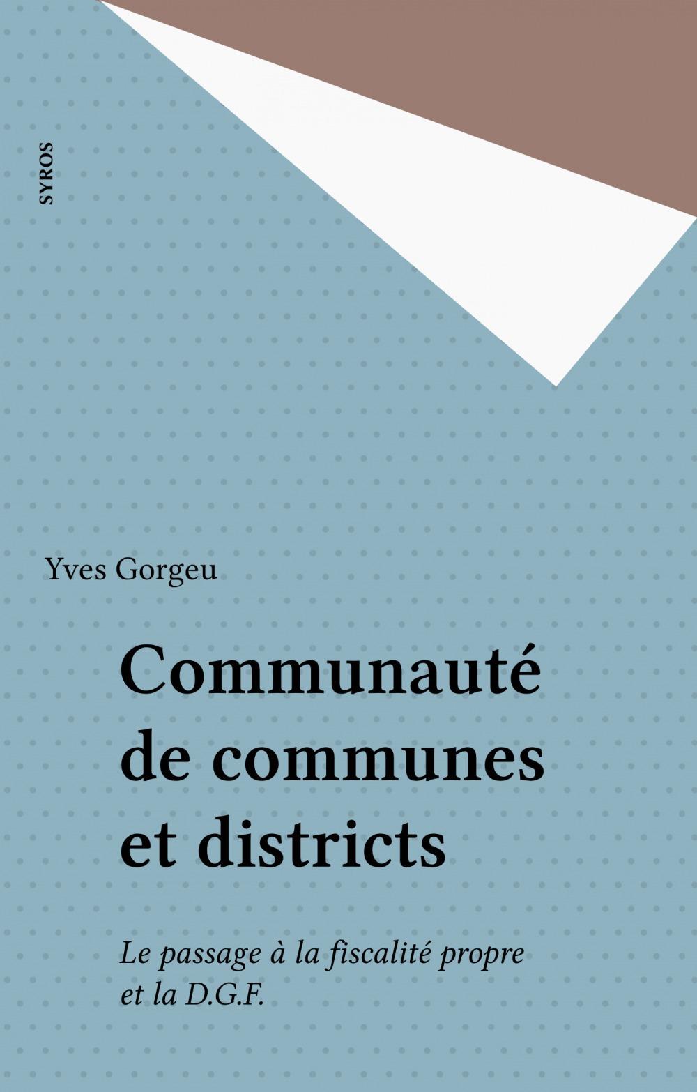 Communauté de communes et districts