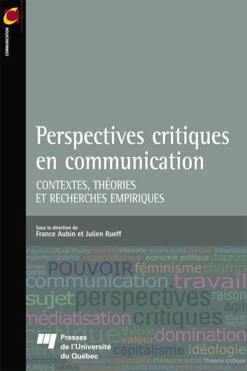 Perspectives critiques en communication