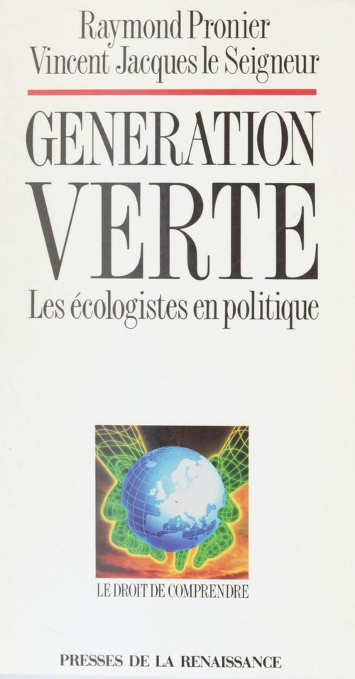 Raymond Pronier Génération verte
