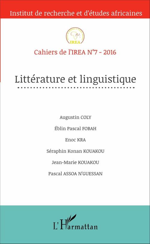 Jean-Marie Kouakou Littérature et linguistique