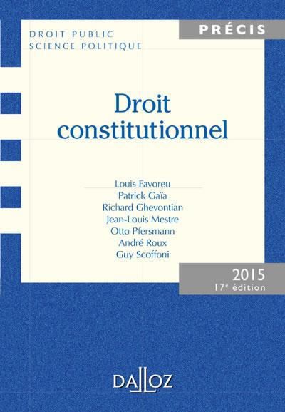Collectif Droit constitutionnel (édition 2015)
