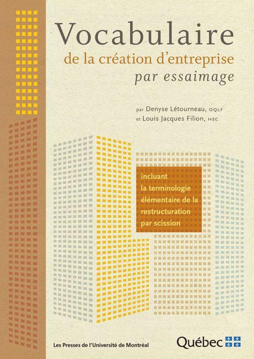 Vocabulaire de la création d'entreprise par essaimage