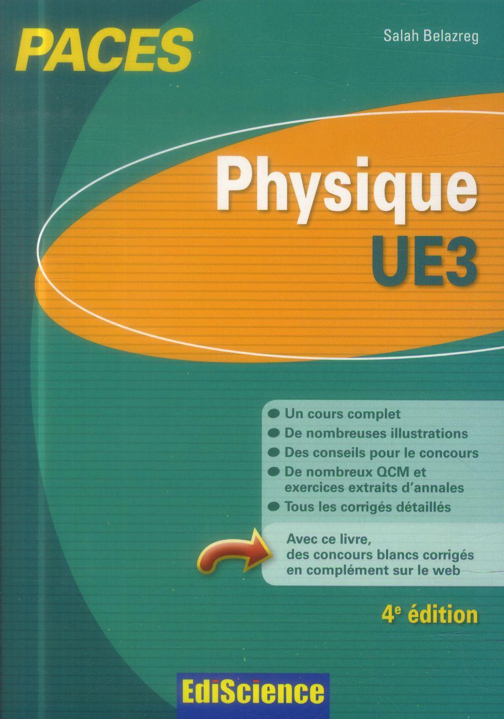 Salah Belazreg Physique-UE3 PACES - 4e éd.