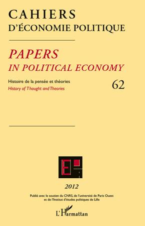 Cahiers D'Economie Politique Histoire de la pensée et théorie