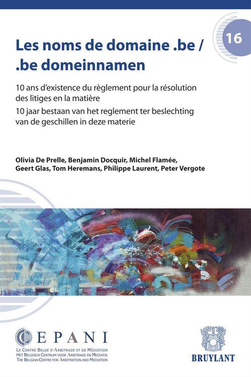 Collectif Les noms de domaine.be ; be. domeinnamen