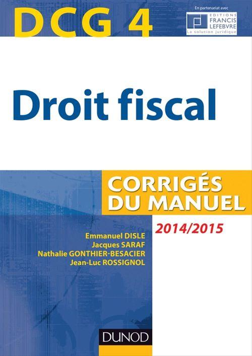 DCG 4 - Droit fiscal 2014/2015 - 8e édition