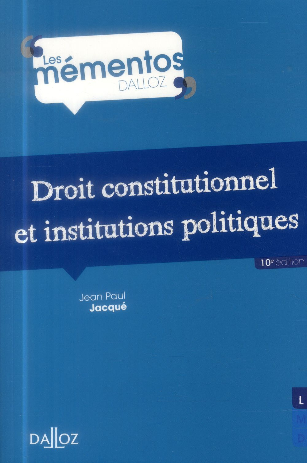 Jean Paul Jacqué Droit constitutionnel et institutions politiques