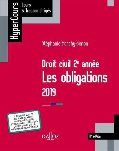 Stéphanie Porchy-Simon Droit civil 2e année, les obligations 2019