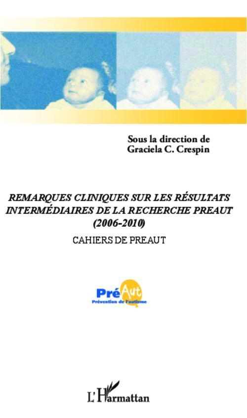 Collectif Remarques cliniques sur les résultats intermédiaires de la recherche Préaut (2006-2010)