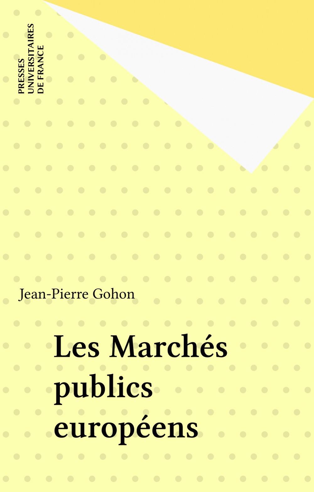 Les Marchés publics européens