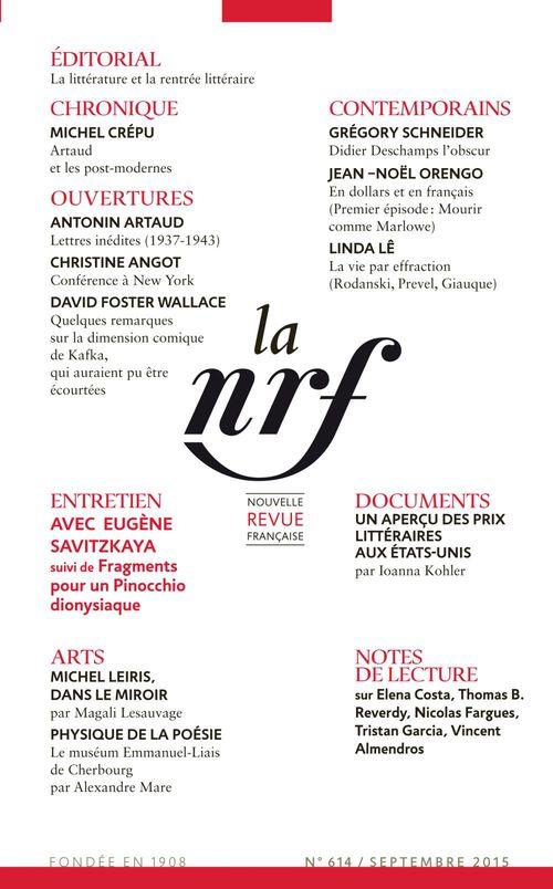 Collectifs La Nouvelle Revue Française N° 614