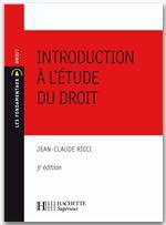 Introduction � l'�tude du droit
