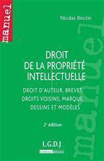 Nicolas Binctin Droit de la propriété intellectuelle (2e édition)